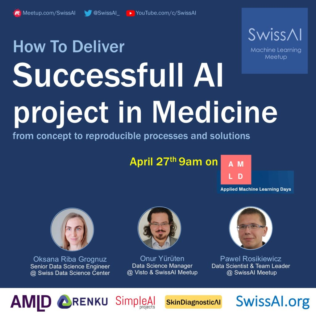 poster from swiss ai workhop on how to deliver a sucesfull AI project in medicine